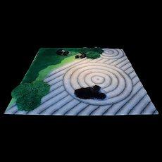 Beate Zimmermann 'Japanischer Garten', unique rug 2002