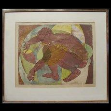 Hans Erni 'Der Lithograph' 1957, 45/200