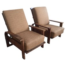 Pair of 'Kanadier' armchairs, Germany 1930's