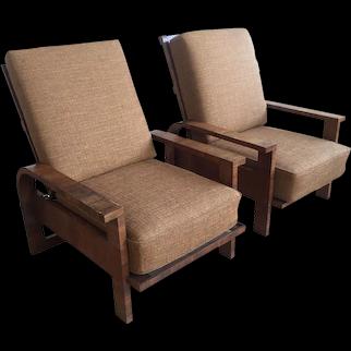 Pair of 'Kanadier' armchairs, Germany 1930's