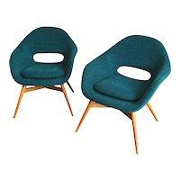 Frantisek Jirák, pair of easy chairs 1959
