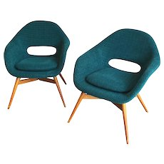 Frantisek Jirák, pair of easy chairs 1959