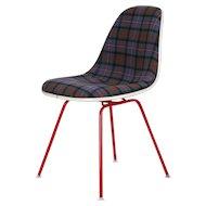 Upholstered Eames Side Chair Tartan