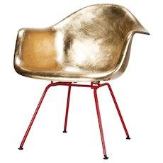 Golden Eames Armchair Hand Gilded