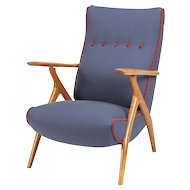 Carlo Mollino Style Lounge Chair