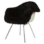 Eames Lounge Armchair Mink Fur
