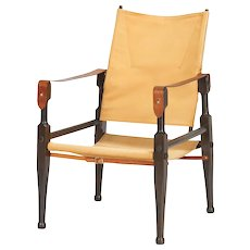 Wilhelm Kienzle Safari Chair Canvas 1950's