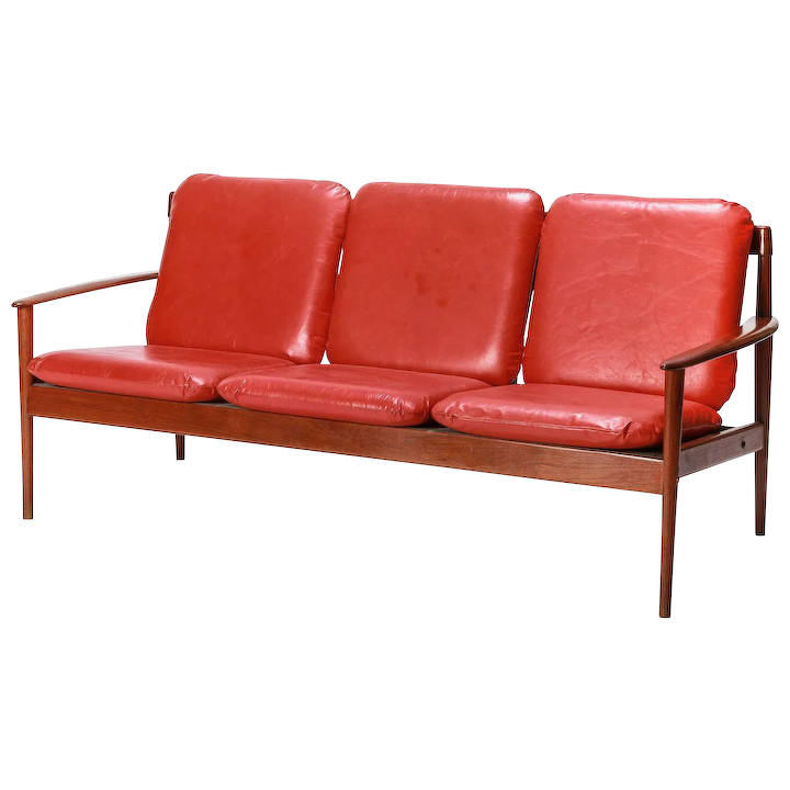 Early Grete Jalk Sofa Teak PJ 56/3 1950\'s