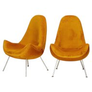 Pair of Fritz Neth Lounge Chairs Correcta 1950's