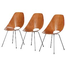 Set of 3 Medea Chairs by Vittorio Nobili 1950's