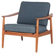 Arne Vodder Teak Lounge Chair Model 164 France & Son