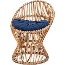 Italian Bamboo Wicker Chair in the Style of Franco Albini, 1950s