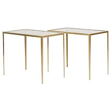 Pair of Side Tables in Brass Münchner Werkstätte 1950's