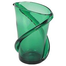 Vetro Verde di Empoli Glass Vase 1960's
