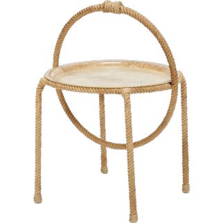 Adrien Audoux & Frida Minet Tray Table Rope and Fiberglass, 1950