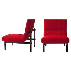 """Pair of Ico and Luisa Parisi Lounge Chairs """"869"""" by Cassina"""