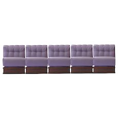 "Gorgeous Italian Five Pieces Sectional ""Gooseneck Sofa"", 1970"