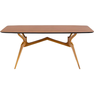 Sculptural blonde dining table attr. Ico Parisi,1950