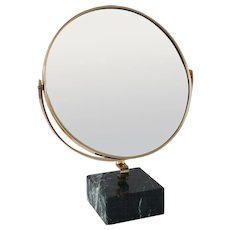 "GIO PONTI vanity mirror ""Fontana Arte"" on green marble block,1955"