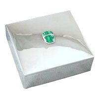 Fred Davis Box ~ Sterling Silver & Malachite c. 1930's
