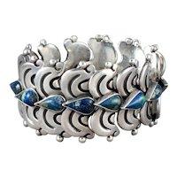 Hector Aguilar Silver & Chrysocolla Bracelet