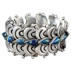 Hector Aguilar Silver & Chrysocolla Bracelet