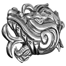 William Spratling Quetzalcoatl Brooch circa 1940