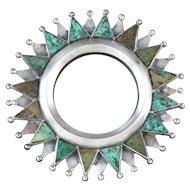 William Spratling Pendant & Pin Silver & Chrysocolla