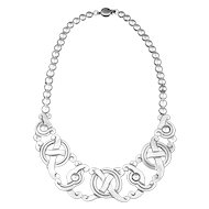 William Spratling Necklace Sterling Silver Pre-Columbian, Mayan Symbols