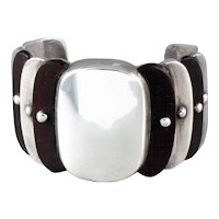 WIlliam Spratling Rosewood Cuff Bracelet