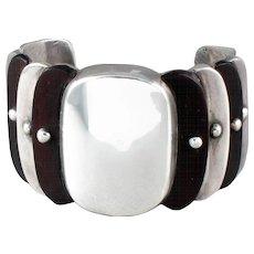 WIlliam Spratling Rosewood Cuff Bracelet