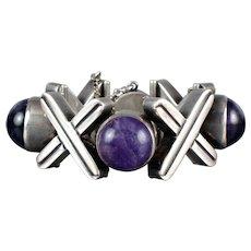 ANTONIO PINEDA X O Amethyst & Sterling Silver Bracelet