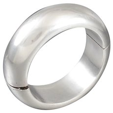 Antonio Pineda Bracelet 970 Sterling Silver Hinged Bangle