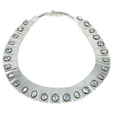 ANTONIO Pineda Moonstone & 970 Sterling Silver Necklace