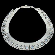ANTONIO Pineda Moonstone & 970 Sterling Silver Necklace
