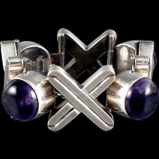 Antonio Pineda Bracelet Amethyst & Silver