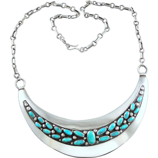 Frank Patania Sr. Turquoise & Sterling Silver Necklace
