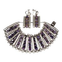 FRED DAVIS AMETHYST BRACELET & EARRINGS