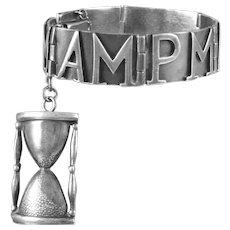 Margot De Taxco AM PM Bracelet Sterling Silver
