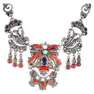 Matilde Poulat ~ MATL ~ Necklace Silver, Coral, Turquoise, Amethyst