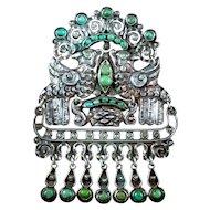 Matilde Poulat Matl Silver & Turquoise Brooch