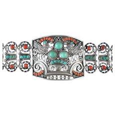 MATL, Matilde Poulat Bracelet Silver, Coral & Turquoise