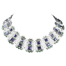 MATILDE POULAT MATL AMETHYST & TURQUOISE NECKLACE
