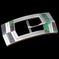William Spratling de Mexico Buckle Silver & Stone