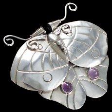 William Spratling Moth / Butterfly Pin