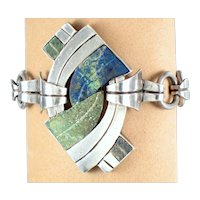 William Spratling Bracelet ~ Vintage 1940's Sterling Silver & Stone