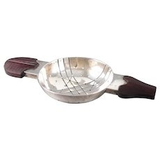 William Spratling Tea Strainer Sterling Silver and  Rose Wood