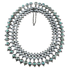 William Spratling Necklace Turquoise & Sterling Silver