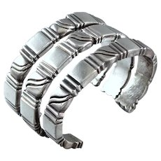 3 William Spratling Stackable Sterling Silver Cuff Bracelets