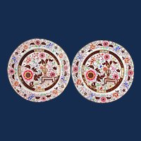Ashworth Ironstone Dinner Plates, Circa 1840-80.